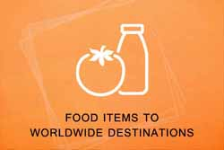 Food Items To Worldwide Destinations